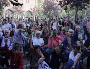 El 'Sí' gana con rotundidad en la asamblea, donde participaron alrededor de 500 personas. Vía: Más Madrid