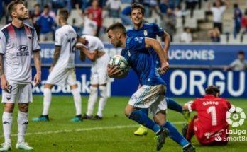 Ortuño apareció a tiempo para el Oviedo. Vía: LaLiga
