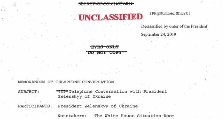 La transcripción de la llamada entre Trump y Zelenski