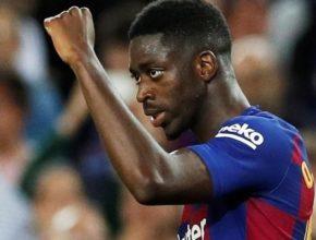 Dembelé manchó su gran actuación con una expulsión evitable en los últimos minutos