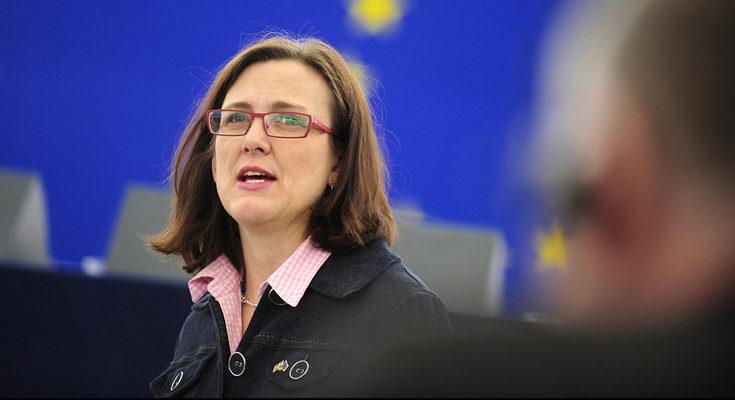 La comisaria de Comercio, Cecilia Malström