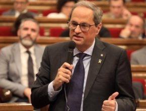 El president de la Generalitat, en la sesión de control en el Parlament