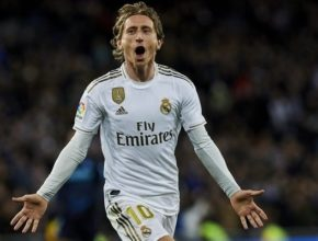 Luka Modric cerró la goleada con una gran volea