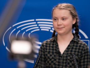 La joven activista dio el protagonismo a los manifestantes reunidos ayer en Madrid