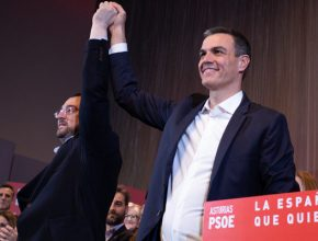 Sánchez y Barbón, en un acto del partido socialista