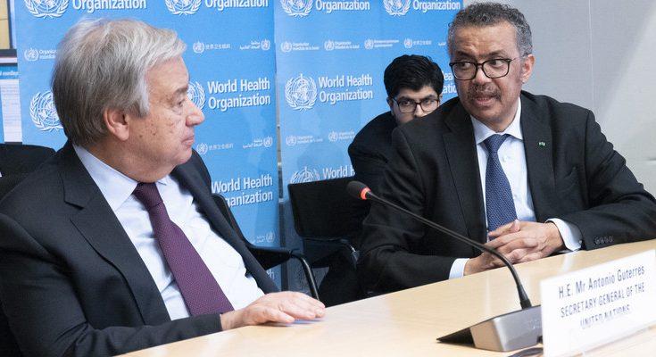 A la derecha, Ghebreyesus, director general de la OMS