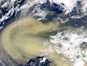 Una inmensa nube de polvo del desierto de Sahara se apodera del Caribe